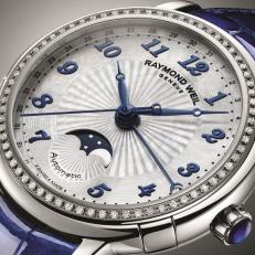 Lady Maestro Phase de Lune Timepiece by Raymond Weil
