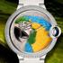 SIHH 2014: Ballon Bleu de Cartier Floral-Marquetry Parrot Timepiece by Cartier