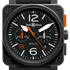 BaselWorld 2014: BR 03-4 Carbon Orange Limited Edition by Bell & Ross
