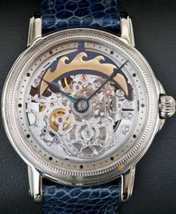 Frank Jutzi watch with skeleton movement