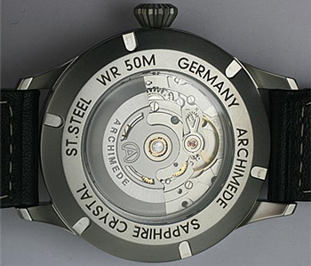 Archimede watch backside