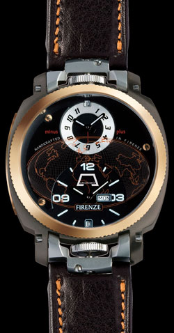 Anonimo Firenze Dual Time Drass Gold (ref. 2009)