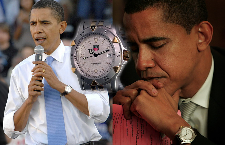Barack Obama and TAG Heuer Series 1500 Two-Tone Divers watch