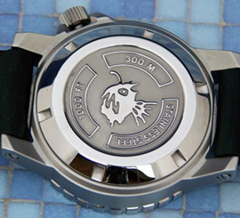 Orsa Sea Angler watch backside