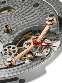 Tourbillograph watch mechanism