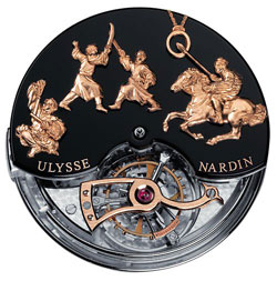 Ulysse Nardin Genghis Khan watch mechanism