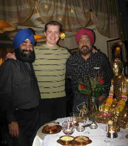 Anoop Singh, Gastronomist, Resaurant Sitara and Mayura in Konstanz with Peter Colat and Gurdeep Singh Kundan