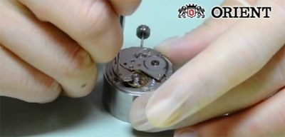 Orient watch movement assembly