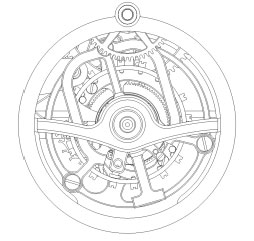 Cecil Purnell watch mechanism schematic image