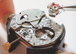 Chopard watch mechanism setting-up