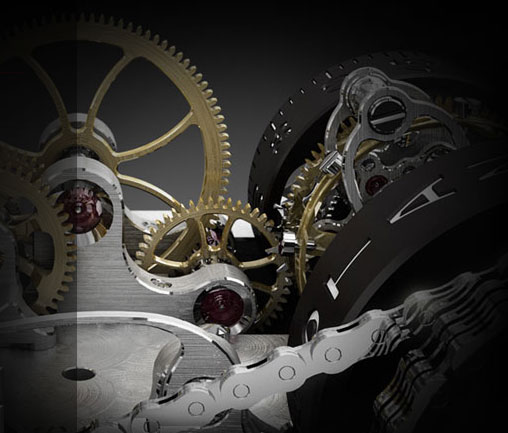 Cabestan watch mechanism