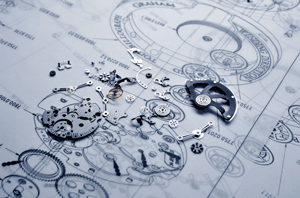 Graham watch schematic image and details of the mechanism
