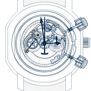 Daniel Roth chronograph schematic image