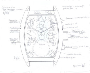 Franck Muller watch schematic image