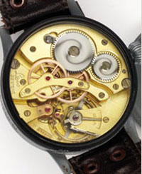 Mechanism inserted into the watch of Laco