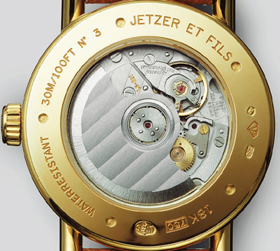 Jetzer Et Fils watch backside