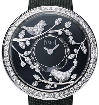 Blooming Garden on the watch dial of Illuminated Garden by Piaget
