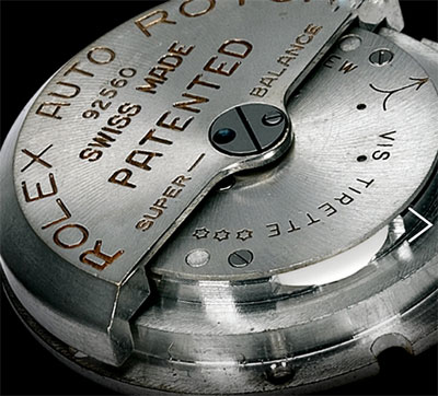 Rolex self-winding mechanism