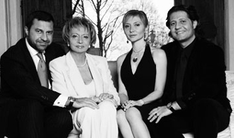 Damiani family: Giorgio, Gabriella, Sylvia and Guido