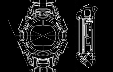 G-SHOCK watch schematic image