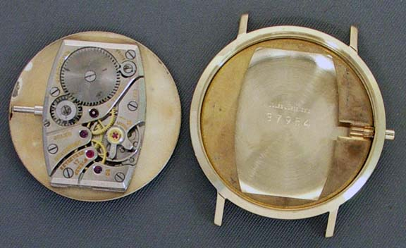 Jules Jürgensen watch mechanism and case