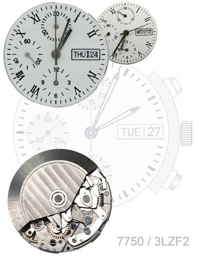 chronograph's dials and mechanism