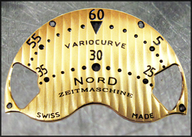 VARIOCURVE watch's dial