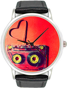 Miusli Cassette Red watch