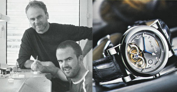 John and Stephen McGonigle and their famous tourbillon
