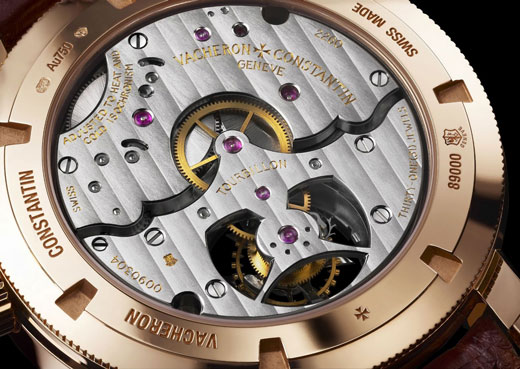 Vacheron Constantin Patrimony Traditionnelle 14-day Tourbillon (ref. 89000/000R-9655) watch backside