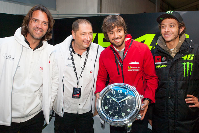 Valentino Rossi and Blancpain