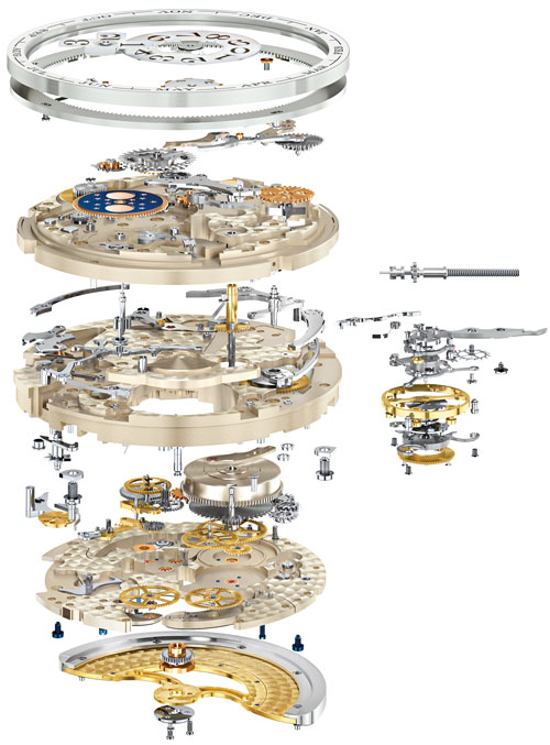 parts of Lange 1 Tourbillon Perpetual Calendar watch