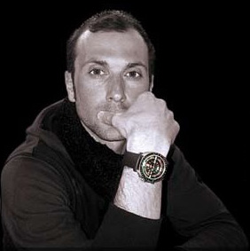 Ivan Basso with Anonimo Firenze Ivan Basso Hi Dive Carbon watch