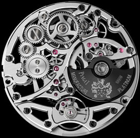 backside of manufactory skeletonized movement Piaget 1200S