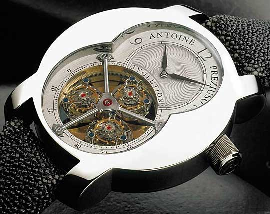 3 Volution Triple Tourbillon watch
