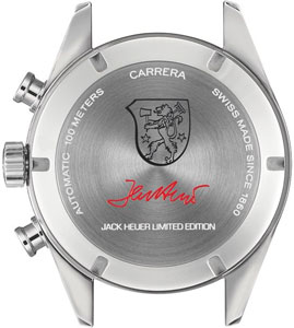 Carrera Jack Heuer 80th Birthday watch backside