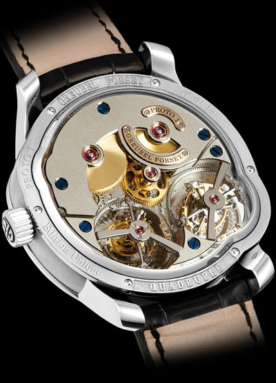 Quadruple Tourbillon Secret watch backside