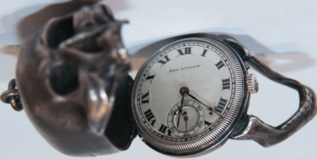 pocket watch-skull from Paul Ditisheim