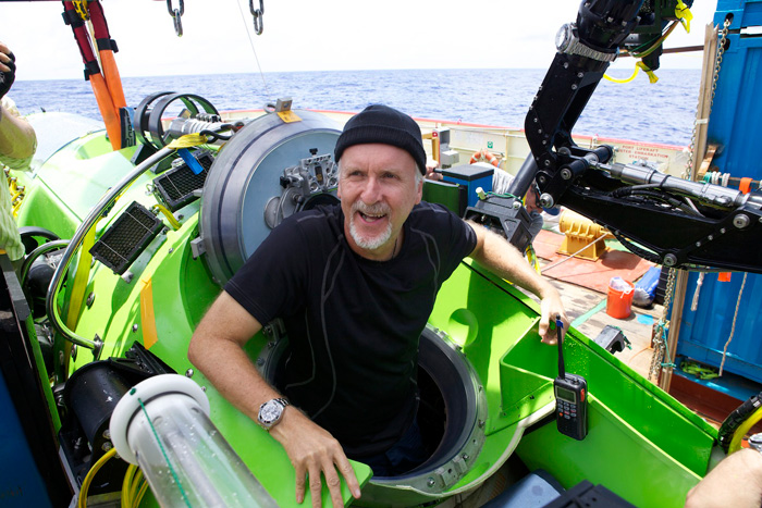 James Cameron with ROLEX DEEPSEA CHALLENGE watch