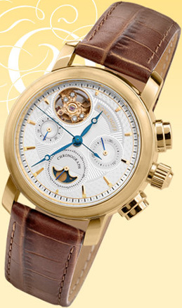 "golden chronograph ROMANOFF - model ""31676/7158876D"""