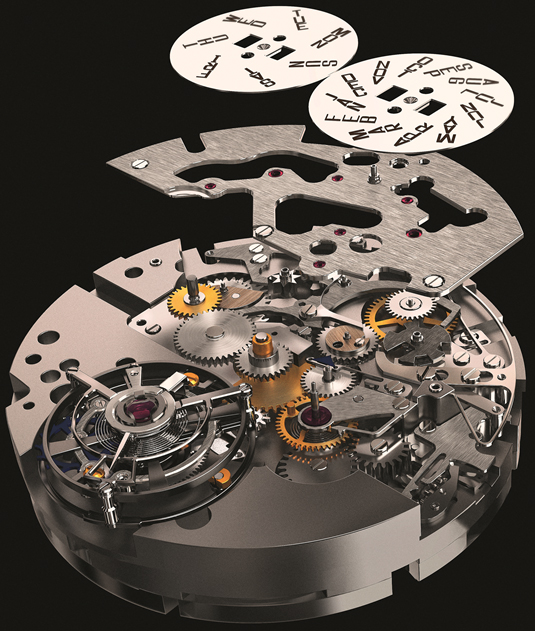Tourbillon Quantième Perpétuel watch mechanism