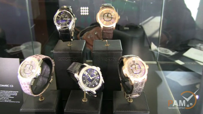 exclusive video of watch models by Ateliers deMonaco at GTE 2012