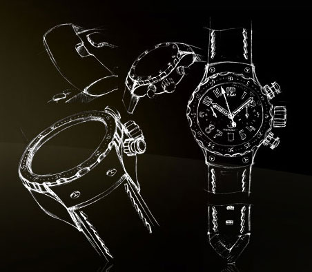 sketch of Timelounge Manufacture watch