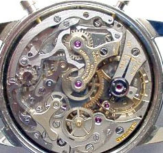 Benrus watch backside - Valjoux 72C mechanism