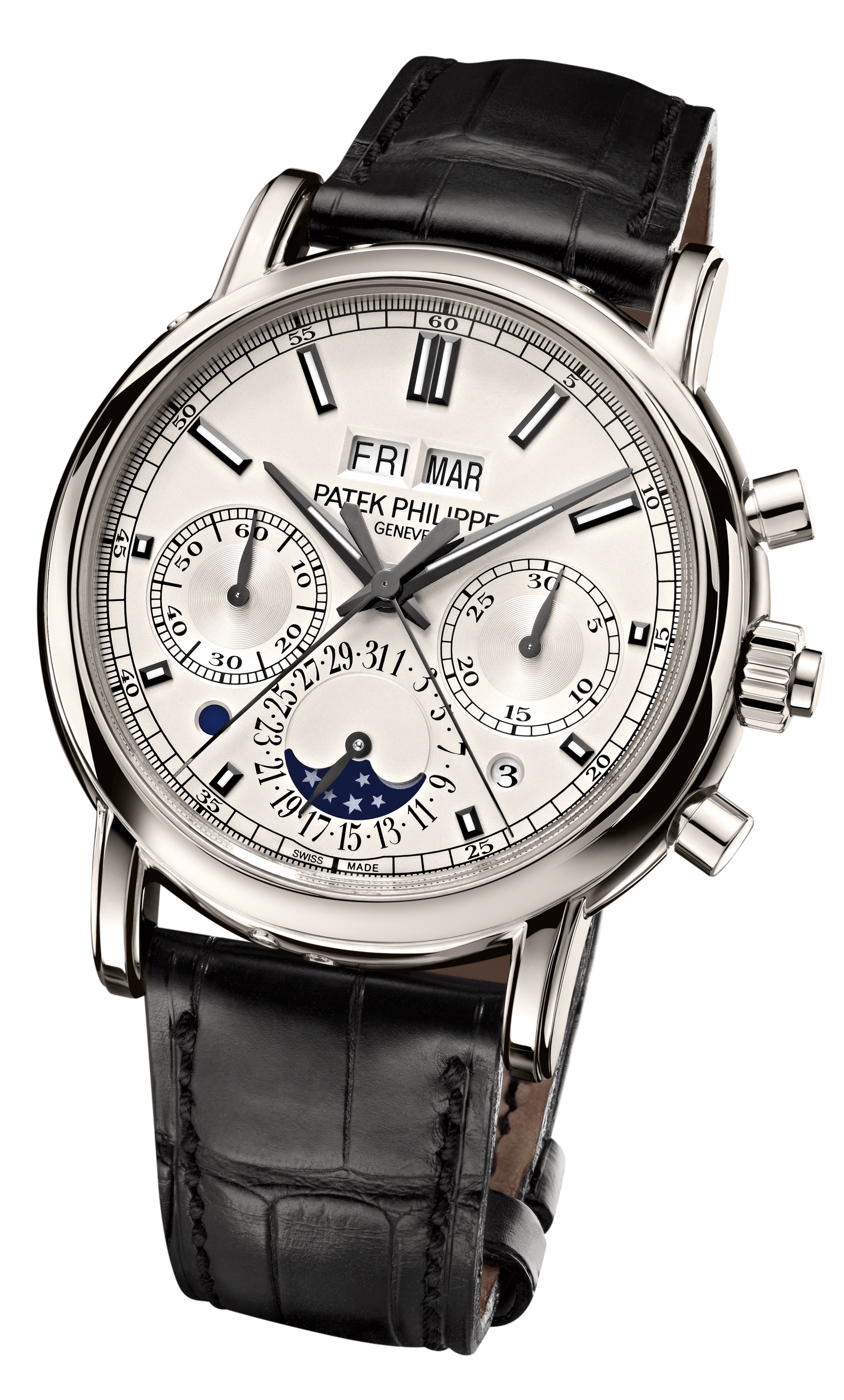 Baselworld 2012 split seconds chronograph and perpetual calendar watch by patek philippe for Patek phillipe watch