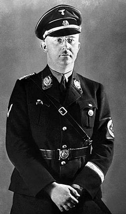 Heinrich Himmler in a cap with «Dead Head»