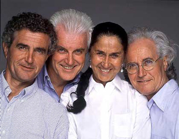 Benetton family: Carlo, Guilberto, Giuliana and Luciano
