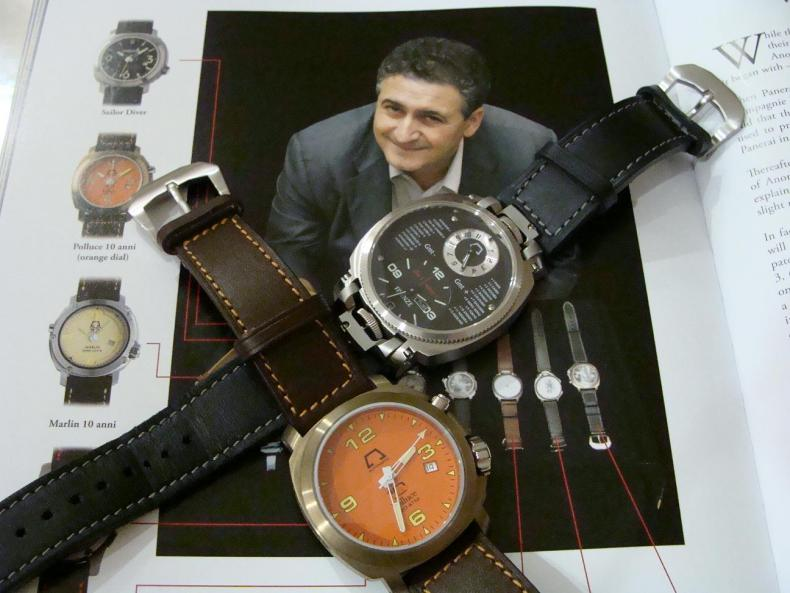 Federico Massacesi and Anonimo watches