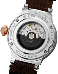 Steffen watch backside with automatic movement