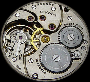 Cyma watch mechanism